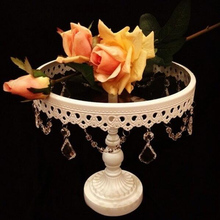 10-Inch  White Metal Iron Cake stand / cake tray fruit plate Pastry wedding decoration diameter 25 cm high 23