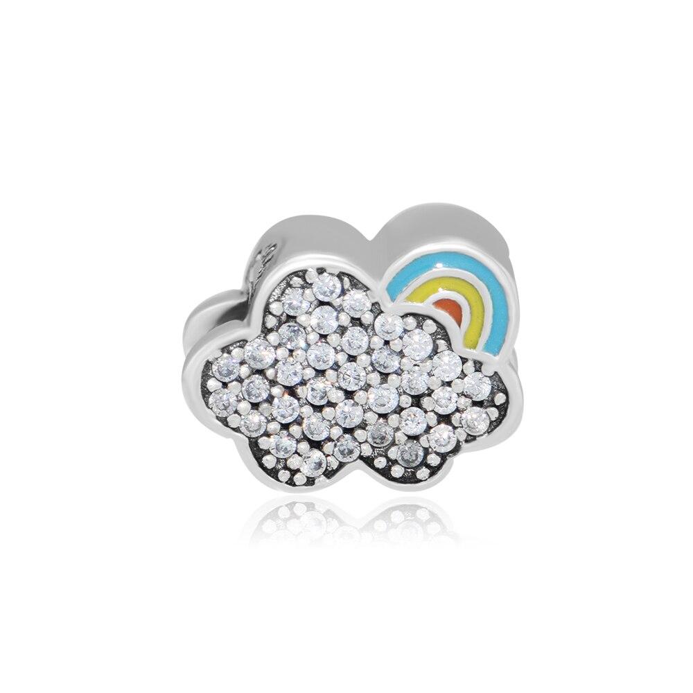 CKK Beads 925 Sterling Silver Rainbow Charm Fits Pandora Charms Original Bracelet DIY Jewelry kralen Berloques