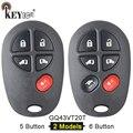 KEYECU FCC ID: GQ43VT20T Замена 4 + 1 5/5 + 1 6 кнопочный дистанционный ключ-брелок от машины для Toyota Sienna 2004-2016