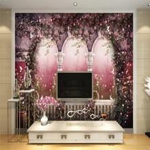 Custom wallpaper murals super beautiful European arches idyllic Roman column TV sofa background wall - high-grade cloth