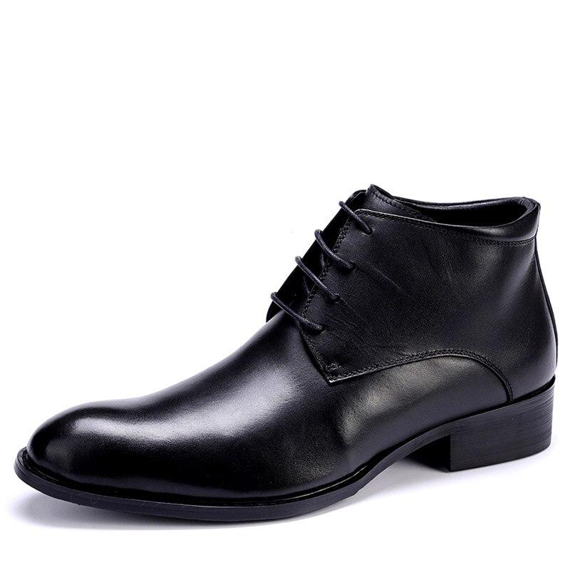 276bf14fff Cálido Otoño Zapatos Botas Tobillo With Genuino 2019 Black Hombres Fur  Felpa Casuales Los Hombre Cuero Invierno black De Espana oCBerdx