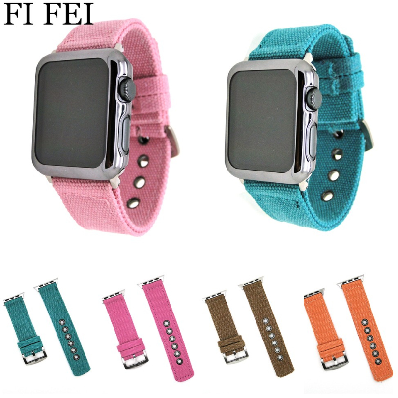FI FEI Sport Woven Nylon Band Strap For Apple Watch 42 mm 38mm Wrist Bracelet Belt Fabric-Like Nylon Band Series 3/2/1 42mm 38 ремешок apple 38mm pollen woven nylon mpvy2zm a