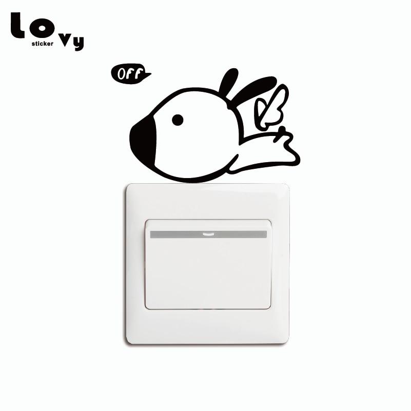 ⑥Fawn Wings Fly Off Switch Sticker Creative Cartoon Animal Vinyl ...