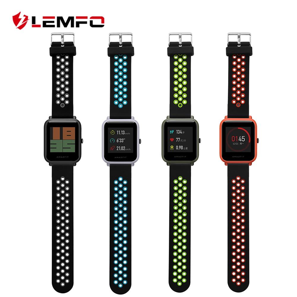 LEMFO Smart-Accessories Strap Sport-Wrist-Band Xiaomi Amazfit Original Silicone for Bip