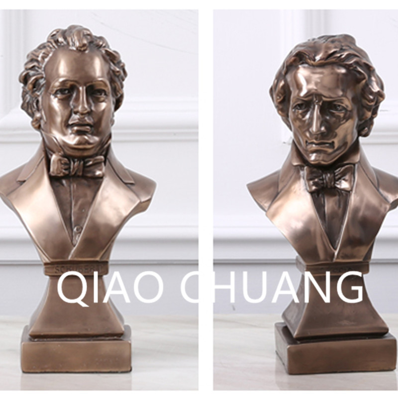 Pianist Franz Peter Schubert Fryderyk Franciszek Chopin BUST Creative Colophony Crafts Living Room Furnishing Articles G1011 миша майский franz schubert songs without words mischa maisky daria hovora