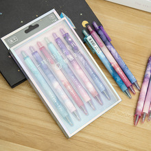 6 Pcs/Set gel pen Starry sky papelaria Kawaii pens for school cute lapices Creative caneta stationery material escolar kalem 12 pcs set gel pen white boligrafo set color papelaria kawaii caneta cute stationery pens for school kalem