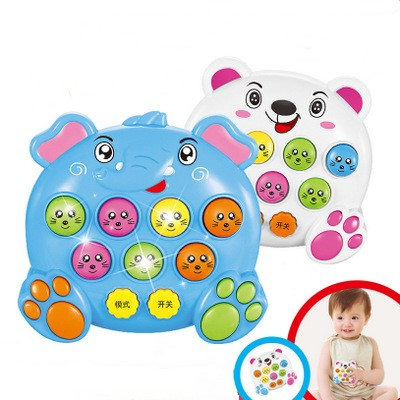 1PC Baby Kids Plastic Music Toys Play Knock Hit Hamster Insect Game Playing Fruit Worm Educational Instrumentos Musicais