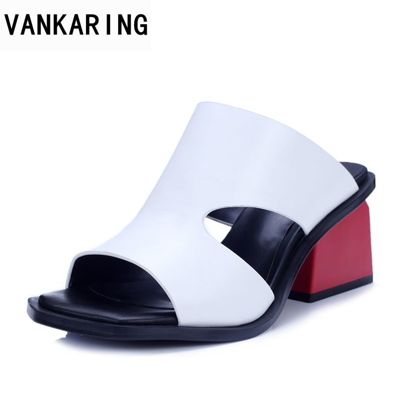 VANKARING 2018 new women sandals summer shoes sexy high heels woman casual shoes gladiatior sandals fashion dress party shoes vankaring new sandals shoes women cruare strange style low heel open toe summer woman black dress party casual sandals slipper