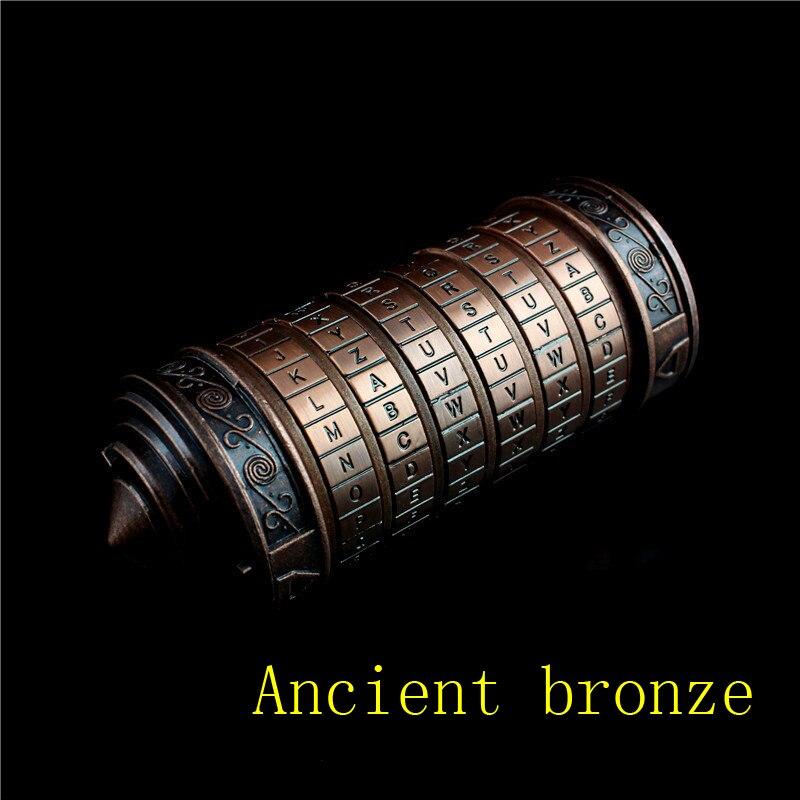 Leonardo da Vinci code jouets métal Cryptex serrures mariage anniversaire cadeaux saint valentin cadeau LetterPassword échapper chambre accessoires - 2