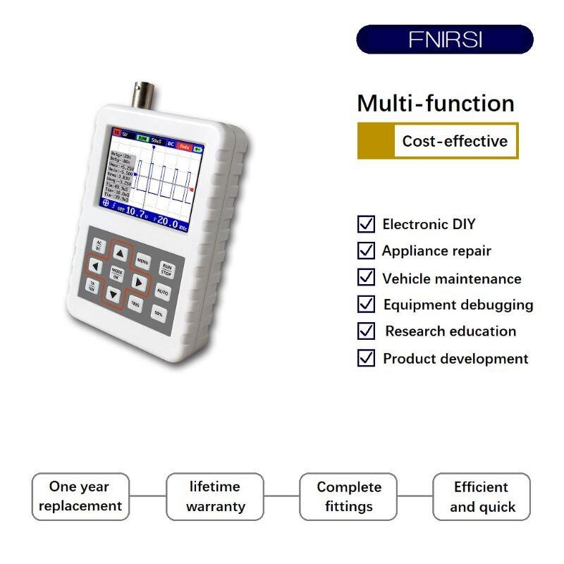 DSO FNIRSI PRO Handheld Mini Portable Digital Oscilloscope 5M Bandwidth 20MSps Sampling RateDSO FNIRSI PRO Handheld Mini Portable Digital Oscilloscope 5M Bandwidth 20MSps Sampling Rate