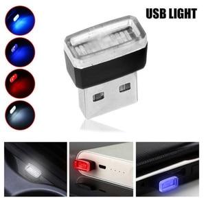 Image 2 - 1/3/4/7 stücke Auto Licht Mini USB Stecker Licht Automotive Interior Atmosphäre Licht Lampe In auto umgebungs Neon Bunte Auto Zubehör