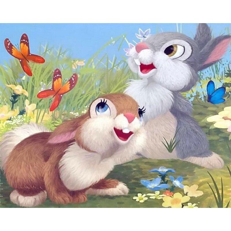знакомство картинка два зайчика на полянке можно