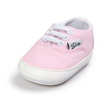 Delebao White Lace-up Canvas Simple Style Prewalkers Baby Boy & Girl Shoes For 0-18