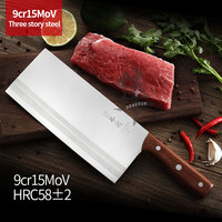 Meat Cleaver Chinese Food Three Layer Composite Steel Chinese Knife