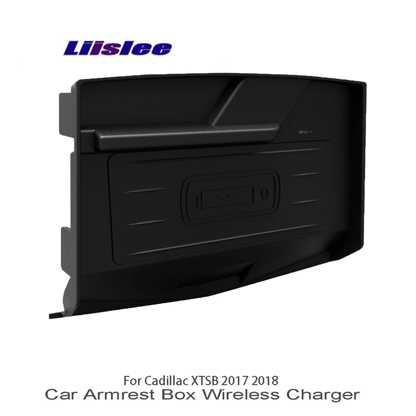 Liislee Car Charger Cup Holder Wifi Charger Storage Car Quick Charge Fast Mobile Phone For Cadillac XTSB 2017 2018 Car Charge