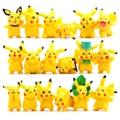 18pcs/lot Kawaii Pikachu Toys 3-6cm Pocket Monster Pikachu Mini PVC Action Figures Toys Doll Collection Model Christmas Toys