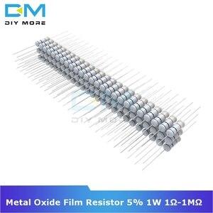 100PCS +5% -5% Metal Oxide Film Resistor 5% 2W 1R-1M Ohm Resistance Diy Electronic Resistor 1K 2.2K 4.7K 5.1K 6.8K 10K 15K 22K