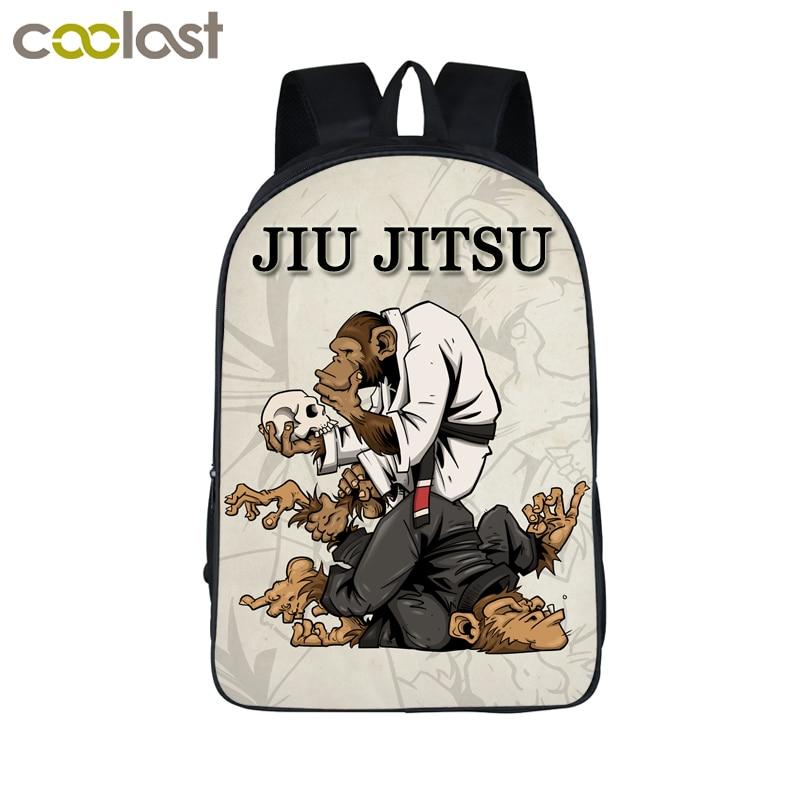 BRAZILIAN JIU JITSU / Muay Thai Backpack For Teenage Boys Jiujitsu bjj Children School Bags Women Men Backpack Kids Book Bag cotton gloves boxing sanda muay thai bandage tied hands