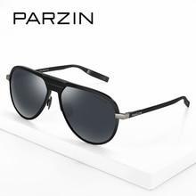PARZIN Brand Polarized Sunglasses Men Classical Driving Glasses Shield Anti UV400 Pilot Retro Lens Light Metal Frame 8133