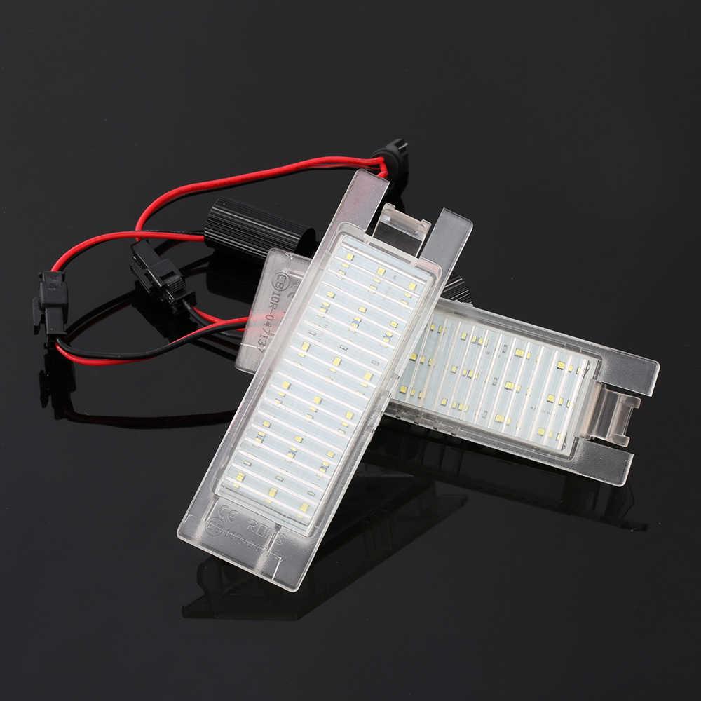 2 pièces voiture éclairage de plaque d'immatriculation LED plaque d'immatriculation lumière pour Opel Astra H J Insignia Zafira B Corsa C D E Meriva A B Vectra C