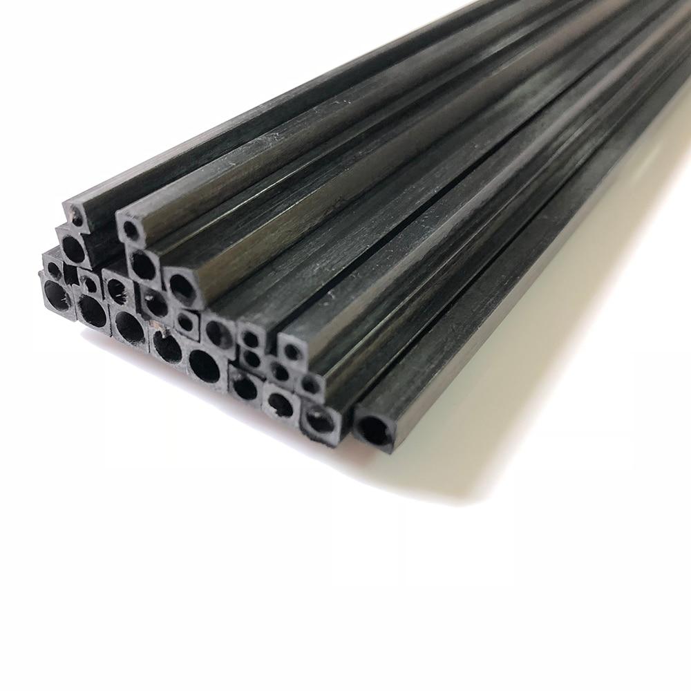 5pcs/set Length 500mm Square Carbon Fiber Tube for RC Model
