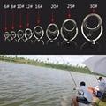 8 Größe 8 Stücke Edelstahl DIY Auge Ringe Angelrute Guides Tipps Linie Ringe für  Der Reparatur Kit-in Angelruten aus Sport und Unterhaltung bei