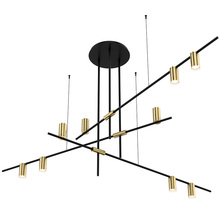 New classical Creative personality 3/4/9 lights pendant foyer bedroom dining room E27 LED droplight black with gold body