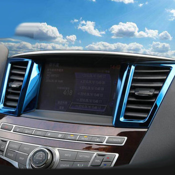 Dashboard Center Console GPS Air Vent Outlet Decorative Frame Sticker Cover Trim For Infiniti QX60 JX35 Interior Accessories image
