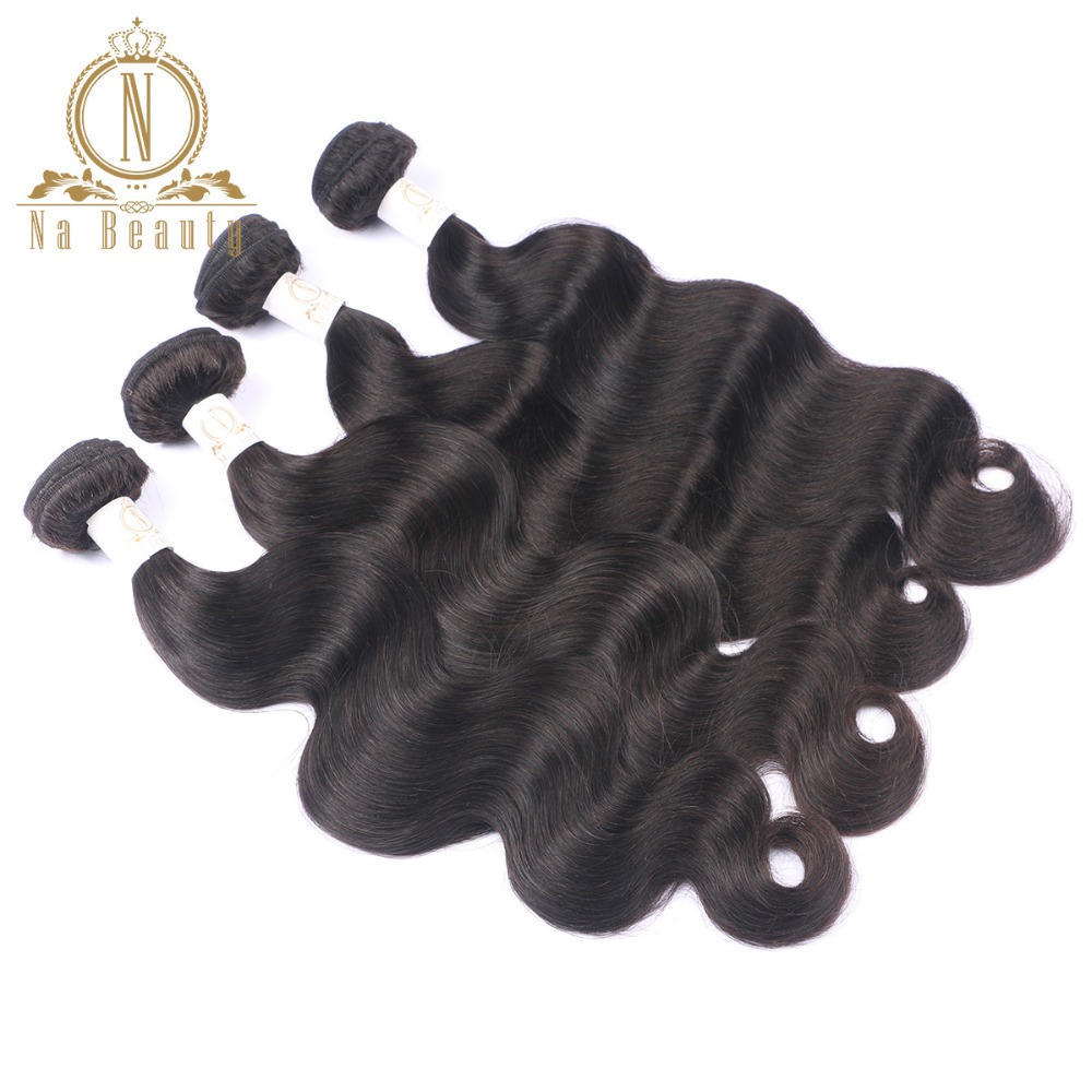 4 Bundles Human Hair Extention Body Wave Brazilian Remy Weaving Hair Weft Natural Color 10-28Inch Na Beauty Free Shipping
