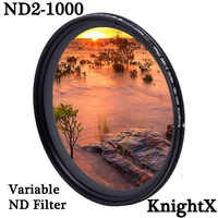 KnightX ND2 to ND1000 Density Fader Variable ND filter Adjustable For canon sony nikon d600 60d 500d 49 52 55 58 62 67 72 77 mm