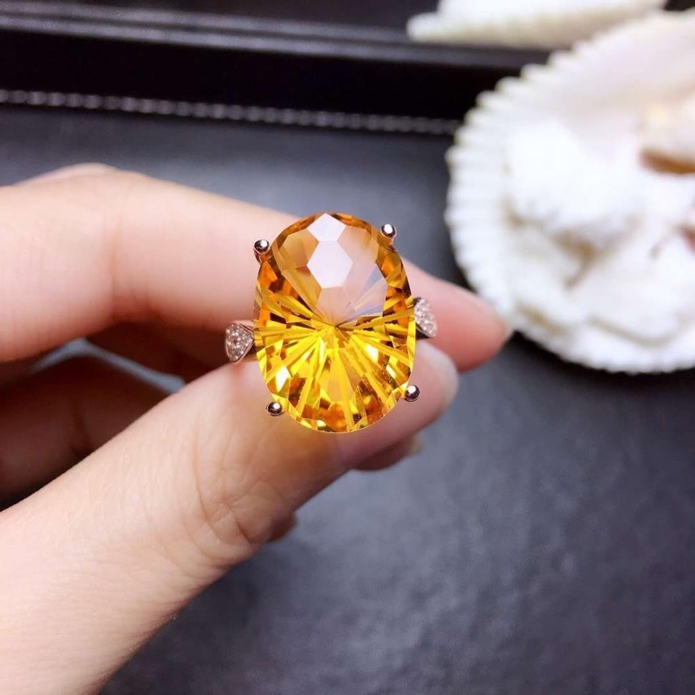Yellow gemstone ring with silver citrine jewelry for menYellow gemstone ring with silver citrine jewelry for men