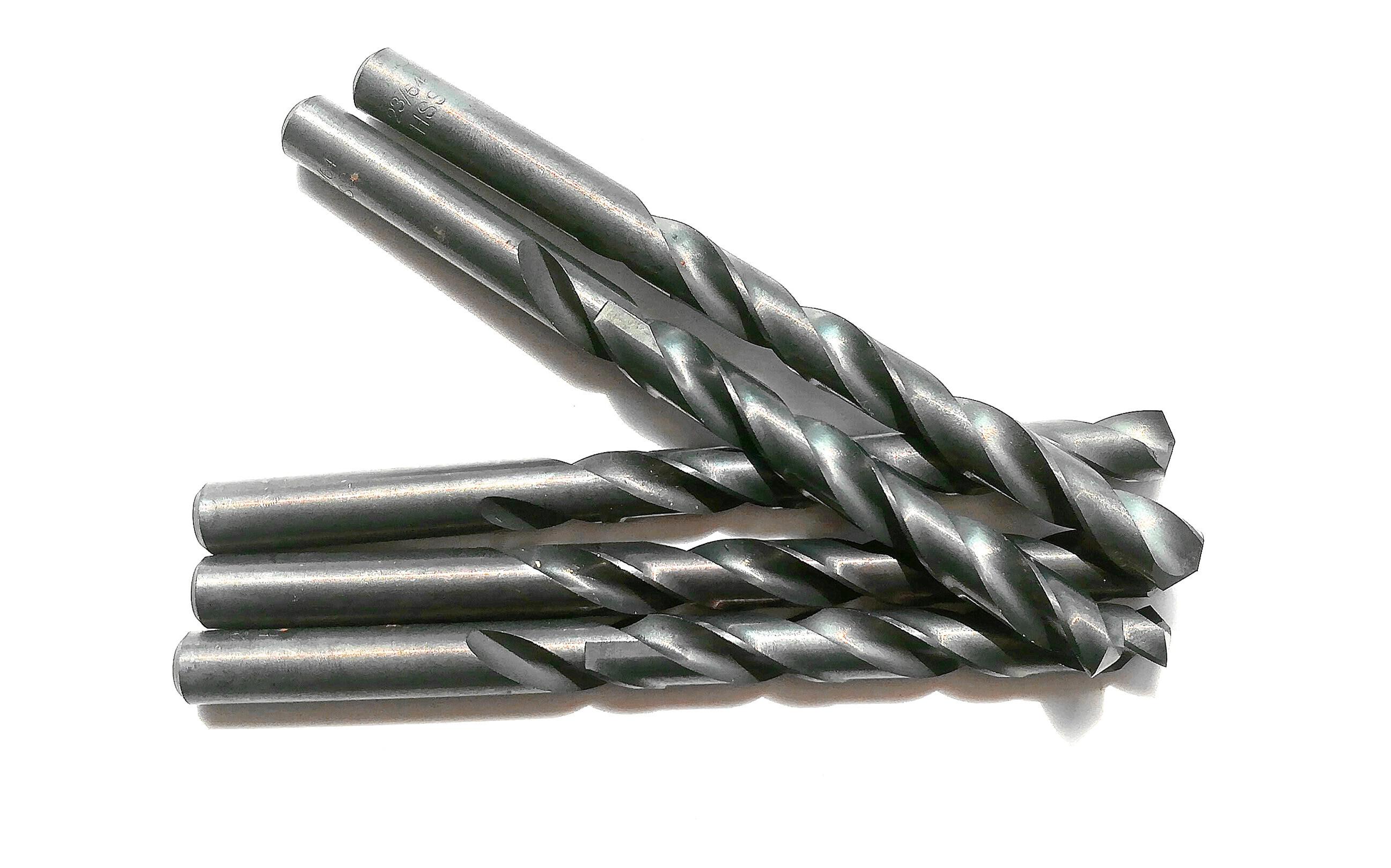 DRILLFORCE, 5Pcs 27/64 HSS Black Oxide Jobber Length Twist Drill Bit for Metal free shipping of 1pc hss 6542 made cnc full grinded hss taper shank twist drill bit 11 175mm for steel
