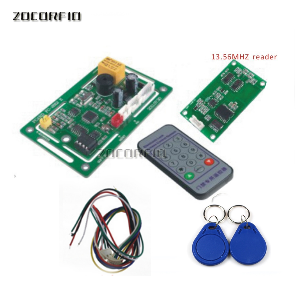 DC-12V FC-2812 13.56MHZ RIFD embedded entrance guard controller, access control module, remote registered users+10pcs IC card rfid intercom embedded access control 13 56mhz ic module controller 2000 user