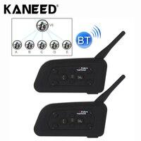 2 PCS V6 1200 1200m 6 Riders Bluetooth Multi Interphone Headsets For Motorcycle Helmet