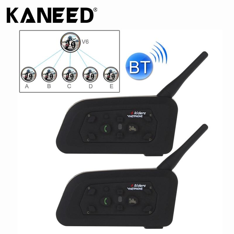 2 PCS V6-1200 1200m 6 Riders Bluetooth Multi-Interphone Headsets for Motorcycle Helmet