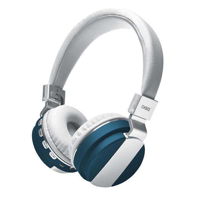 Auriculares Bluetooth inalámbricos + MP3 función 2in1 estéreo bajo pesado inalámbrico de música Auriculares auriculares para Xiaomi IOS PC