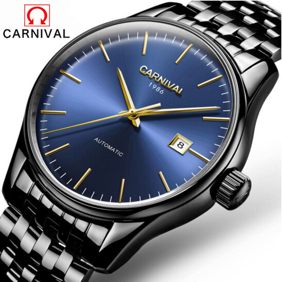 2017 brand Luxury Sport men's Automatic Mechanical Business Watch Men full Steel Band Stainless Steel Watches Relogio 2017 luxury brand mechanical men rose gold watches automatic watch water resistant full stainless steel elegant watch for men