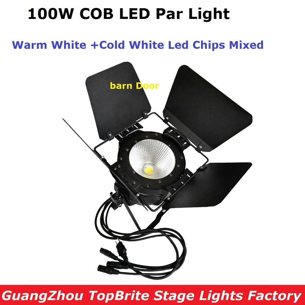 2017 NEW LED COB Par Light 100W High Power Aluminium White Dj Disco DMX Led Beam Wash Strobe Effect Par Lights Free Shipping