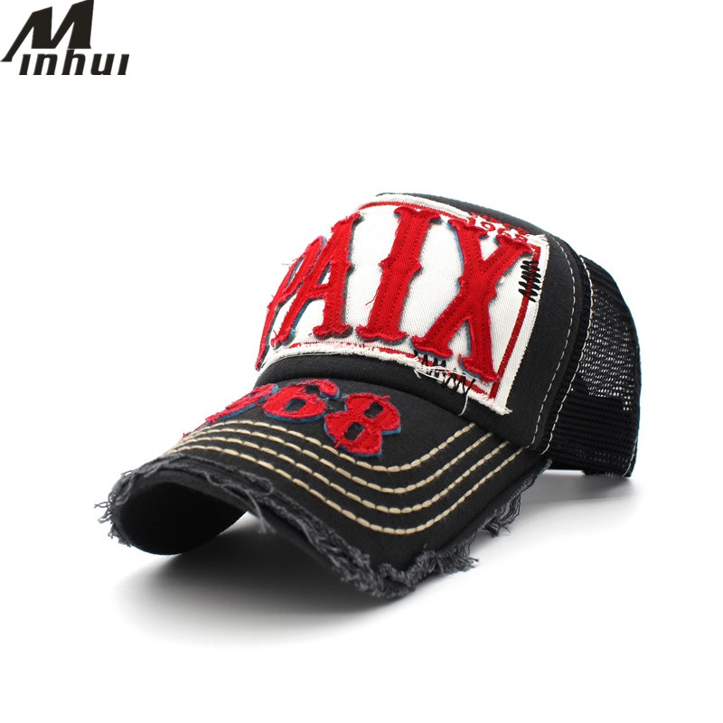 Minhui 2017 New Letters Mesh Baseball Cap Summer Casquette Gorra Fitted Hat Men Snapback Hat Caps for Women 2016 new new embroidered hold onto your friends casquette polos baseball cap strapback black white pink for men women cap