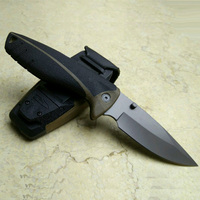 Hunting Knife Camping Knives Black Pro Folding Blade Super Survival Knife With Sheath