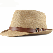 HT2490 Summer Hats for Men Beach Hat Vintage Short Brim Straw Sun Hats with Belt Korea Style Male Fedoras Panama Hat Summer sun hats modis m181a00735 man summer hat for famale beach for male tmallfs