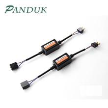 PANDUK 2 шт. H1 H11 H4 H7 светодиодный 9005 9006 Canbus автомобильный декодер фары адаптер для проводки DRL светодиодная лампа ошибка компенсатор противотуманных фар с can-bus