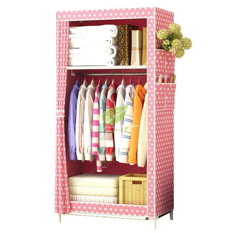 Fashion Thick Non-woven Fabric Closet Wardrobe Storage Cabinet Assembly Simple and Easy Cloth Fabric Solid Modern
