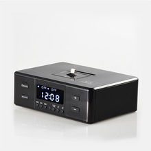 ALWUP Bluetooth Speakers Support Alarm Clock NFC FM Radio Type-C Micro Charger Dock Phone Station Speaker for iPhone 6 7 8 Plus