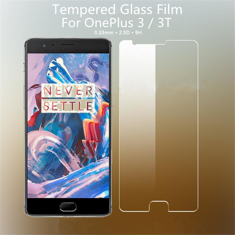 Full Cover Color Tempered Glass For OnePlus 3 / 3T / One Plus Three T/ OnePlus3 1+3 A3000 Screen Protector Protective Film Guard