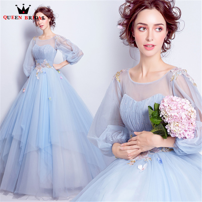 Light Blue Evening Dresses Ball Gown Fluffy Beading Tulle Long Party Prom Dress Gown 2020 Vestido De Festa Jw51 Evening Dress Ball Gown Bridal Evening Dressprom Dress Gown Aliexpress