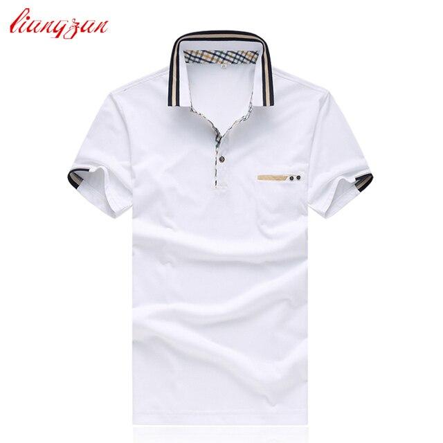 Мужчины Бизнес Рубашки Поло Летом С Коротким Рукавом Повседневная Хлопок Тонкий Fit Рубашка Марка Большой Размер 5XL Рубашки Сорочка Homme SL-S021