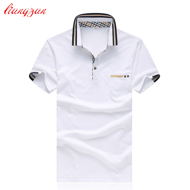 Men Business Polo Shirts Summer Short Sleeve Casual Cotton Slim Fit Dress Shirt Brand Big Size 5XL Shirts Chemise Homme SL-S021