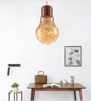 Phube освещение светодиодный подвесной светильник Янтарный/Дымчатая большая Подвесная лампа современная стеклянная подвеска огни Подвесная