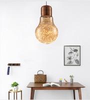 Phube Lighting LED Pendant Light Amber/Smoky Big Bulb Pendant Light Modern Glass Pendant Lights Suspension Lamp Lustre